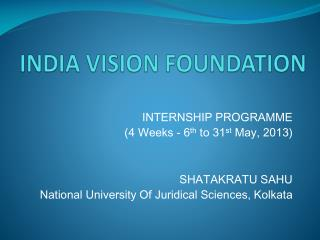 INDIA VISION FOUNDATION