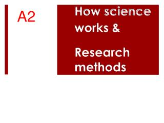 How science 				works & Research 				methods