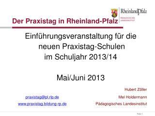 Der Praxistag in Rheinland-Pfalz