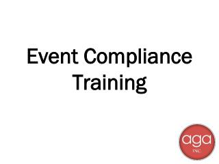 Event Compliance Training
