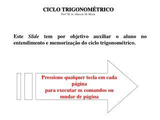 CICLO TRIGONOMÉTRICO Profº M. Sc. Marcelo M. Moala