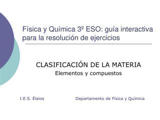 Física y Química 3º ESO: guía interactiva para la resolución de ejercicios