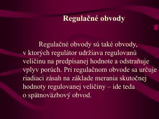 Regulačné obvody