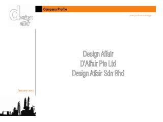 Design Affair D'Affair Pte Ltd Design Affair Sdn Bhd