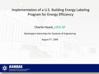 Implementation of a U.S. Building Energy Labeling Program for Energy Efficiency