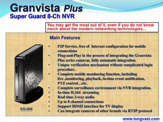 Granvista Plus Super Guard 8-Ch NVR