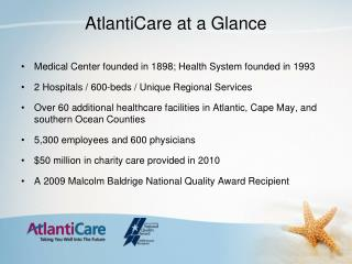 AtlantiCare at a Glance