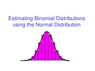 Estimating Binomial Distributions using the Normal Distribution