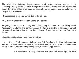 Stecherism  n  : a  bon mot  from the lips of Professor Milton Stecher