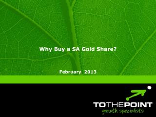 Why Buy a SA Gold Share?