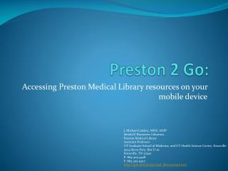 Preston 2 Go: