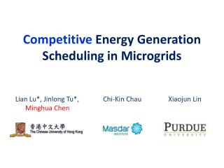Competitive  Energy Generation Scheduling in Microgrids