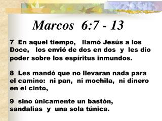 Marcos 6:7  -  13