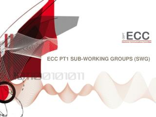 ECC PT1 Sub-W orking  Groups (SWG)
