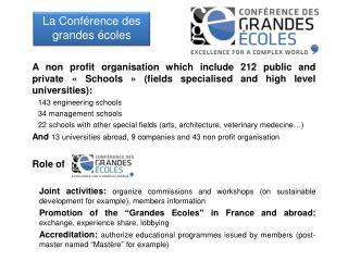 La Conférence des grandes écoles