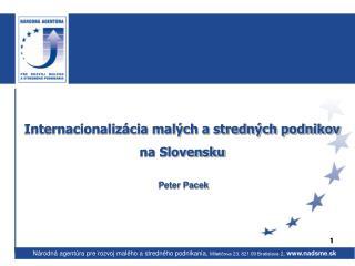 Internacionalizácia malých a stredných podnikov  na Slovensku