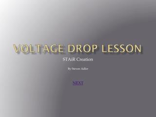 Voltage Drop Lesson