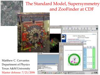 The Standard Model, Supersymmetry 	             and ZooFinder at CDF