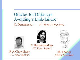 Oracles for Distances  Avoiding a Link-failure