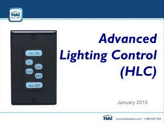 Advanced  HAI Lighting Control (HLC)