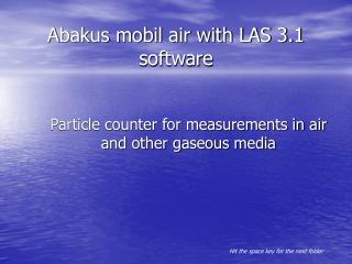 Abakus mobil air with LAS 3.1 software