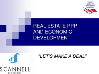 REAL ESTATE PPP  AND ECONOMIC DEVELOPMENT