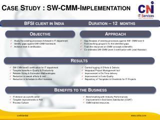 Case Study : SW-CMM-Implementation