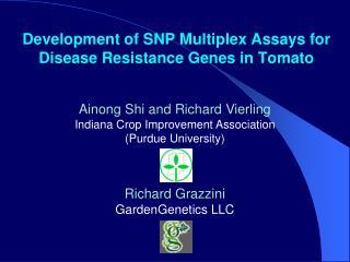 Development of SNP Multiplex Assays for Disease Resistance Genes in Tomato