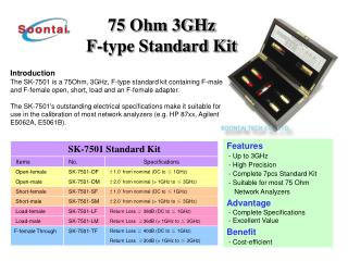 75 Ohm 3GHz F-type Standard Kit