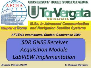M.Sc. in Advanced Communication and Navigation Satellite Systems