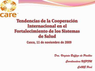 Tendencias de la Cooperación Internacional en el Fortalecimiento de los Sistemas de Salud