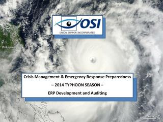 Crisis Management & Emergency Response Preparedness – 2014 TYPHOON SEASON –