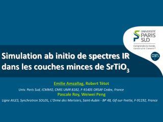 Simulation ab initio de spectres IR dans les couches minces de SrTiO 3