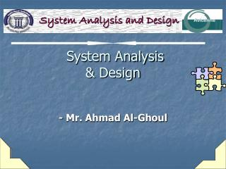 System Analysis  Design