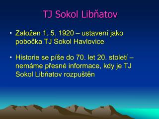 TJ Sokol Libňatov