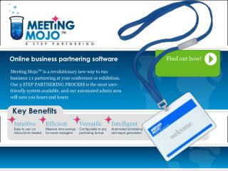 Online business partnering software