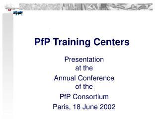 PfP Training Centers