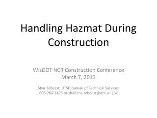 Handling Hazmat During Construction