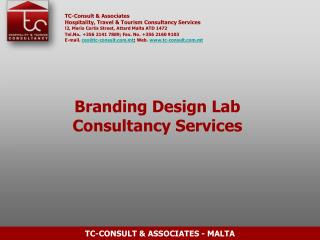 TC-Consult & Associates Hospitality, Travel & Tourism Consultancy Services
