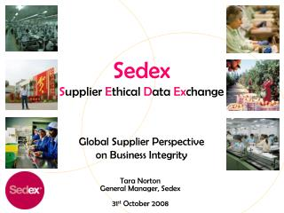 Sedex Supplier Ethical Data Exchange   Global Supplier Perspective on Business Integrity