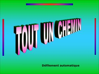 TOUT  UN  CHEMIN