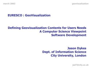 EURESCO : GeoVisualization
