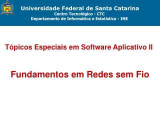 Universidade Federal de Santa Catarina Centro Tecnol gico - CTC  Departamento de Inform tica e Estat stica - INE