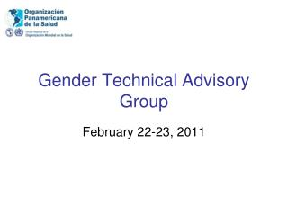 Gender Technical Advisory Group