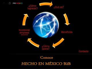 Conoce HECHO EN MÉXICO B2B