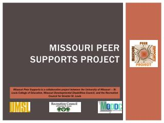 Missouri Peer Supports Project