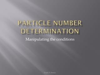 Particle number determination