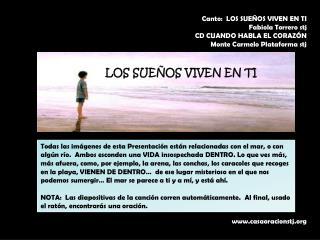Canto:  LOS SUEÑOS VIVEN EN TI Fabiola Torrero stj CD  CUANDO HABLA EL CORAZÓN