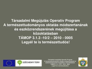 Társadalmi megújulás Operatív Program