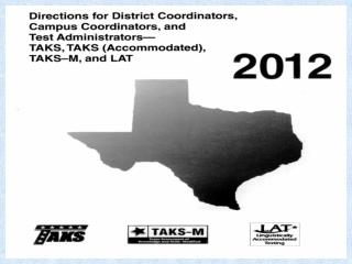 Harlingen Test Coordinator Training